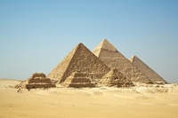 Behold the Great Pyramids of Giza in Egypt (desired by 5)