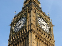 Time for the Big Chimes of Big Ben, London  (completed by 5)