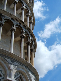 Experience a Tilted Center of Gravity at the Leaning Tower of Pisa (completed by 7)